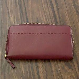 Tory Burch Bags - Tory Burch cranberry zip around wallet